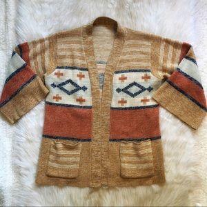 Sweaters - Bohemian Style Thick Knit Cardigan
